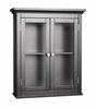 Wall Cabinet with 2 Doors in Dark Espresso - Madison Avenue - 7619