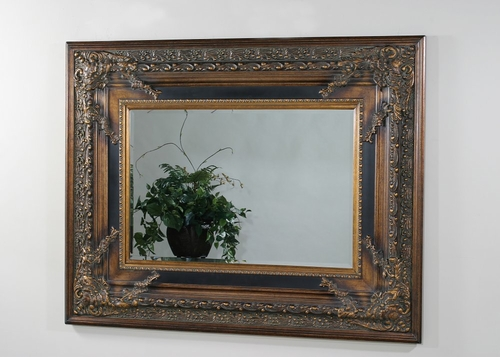 Wall Mirror in Black / Gold - Marbella - Ultimate Accents - 10800MI