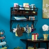 Wall Mount Craft Storage Rack w/ Baskets Black - Holly and Martin
