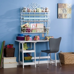 Wall Mount Craft Storage Rack White - Holly and Martin