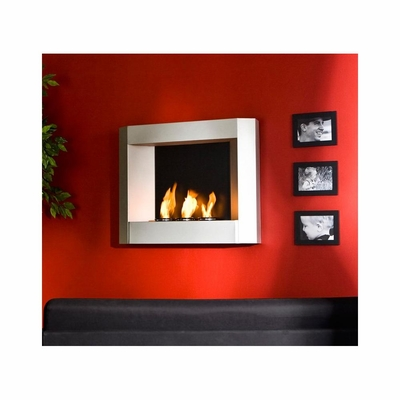 SEI Wall Mount  Fireplace - Silver