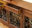 """Walnut"" 3-Door Scroll Console - Powell Furniture - 246-335"