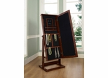 Walnut Cheval Jewelry Wardrobe - Powell