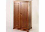 Walnut Mission Style DVD Cabinet - Leslie Dame DVD Storage - CD-612W