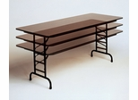 "Walnut Top High-Pressure 3/4"" Top Adjustable Folding Table 30"" x 60"" - Correll Office Furniture - CFA3060PX"
