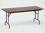 "Walnut Top High-Pressure 3/4"" Top Folding Table 18"" x 96"" - Correll Office Furniture - CF1896PX"