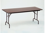 "Walnut Top High-Pressure 3/4"" Top Folding Table 30"" x 72"" - Correll Office Furniture - CF3072PX"