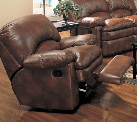 Walter Leather Rocker Recliner - 600333
