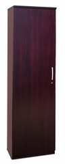 Wardrobe Cabinet with Left Hinge in Mahogany - Mayline Office Furniture - VWRDLMAH