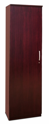 Wardrobe Cabinet with Left Hinge in Sierra Cherry - Mayline Office Furniture - VWRDLCRY