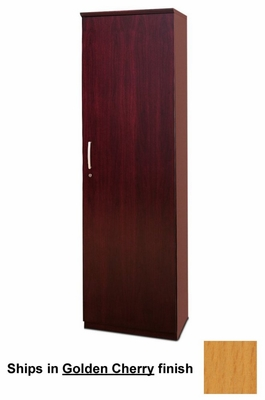 Wardrobe Cabinet with Right Hinge in Golden Cherry - Mayline Office Furniture - VWRDRGCH