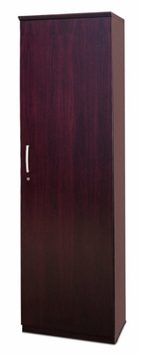 Wardrobe Cabinet with Right Hinge in Mahogany - Mayline Office Furniture - VWRDRMAH
