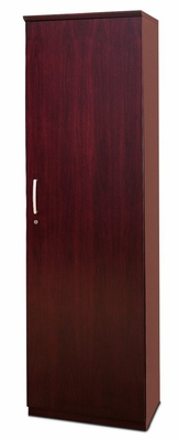 Wardrobe Cabinet with Right Hinge in Sierra Cherry - Mayline Office Furniture - VWRDRCRY