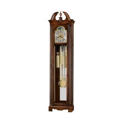 Warren Grandfather Clock in Cherry Bordeaux - Howard Miller