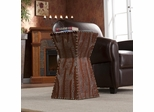 Warrington Faux Leather Accent Table - Holly and Martin