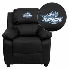 Washburn University Ichabods Black Leather Kids Recliner - BT-7985-KID-BK-LEA-41111-EMB-GG