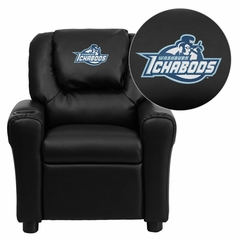 Washburn University Ichabods Black Vinyl Kids Recliner - DG-ULT-KID-BK-41111-EMB-GG