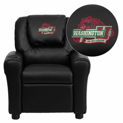 Washington University in St. Louis Bears Black Kids Recliner - DG-ULT-KID-BK-45029-EMB-GG