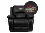 Washington University in St. Louis Bears Embroidered Black Leather Rocker Recliner  - MEN-DA3439-91-BK-45029-EMB-GG