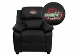Washington University in St. Louis Bears Leather Kids Recliner - BT-7985-KID-BK-LEA-45029-EMB-GG