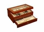 Watch Box in Burlwood Oak - Peyton - Jewelry Boxes by Mele - 0068111