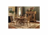 Weathered Pine Hamptons 5-Piece Dining Set - Hillsdale