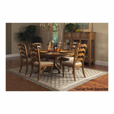 Weathered Pine Hamptons 7-Piece Dining Set - Hillsdale