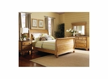 Weathered Pine Hamptons Bed, Nightstand, Dresser, & Mirror - Hillsdale