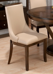 Webber Walnut Upholstered Side Chair - Set of 2 - 417-679KD