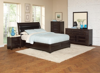 Webster 5PC Queen Bedroom Set in Brown Maple - 202491Q