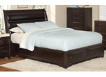 Webster California King Sleigh Bed in Brown Maple - 202491KW