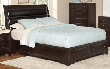 Webster Queen Sleigh Bed in Brown Maple - 202491Q