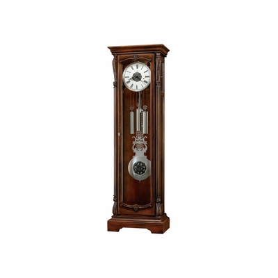 Wellington Grandfather Clock in Hampton Cherry - Howard Miller
