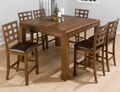 Wenatchee Falls Walnut 7PC Counter Height Table Set  - 737-BS222KD