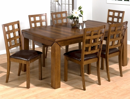 Wenatchee Falls Walnut 7PC Rectangular Dining Set - 737-72