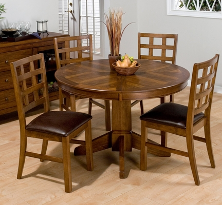 Wenatchee Falls Walnut Dining Table with 4 Chairs - 737-66T