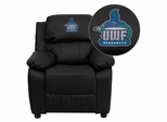 West Florida Argonauts Black Leather Kids Recliner - BT-7985-KID-BK-LEA-41096-EMB-GG