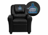 West Florida Argonauts Black Vinyl Kids Recliner - DG-ULT-KID-BK-41096-EMB-GG