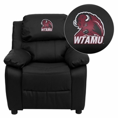West Texas A&M University Buffaloes Leather Kids Recliner - BT-7985-KID-BK-LEA-41113-EMB-GG