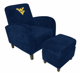 West Virginia Den Chair with Ottoman - Imperial International - 126322