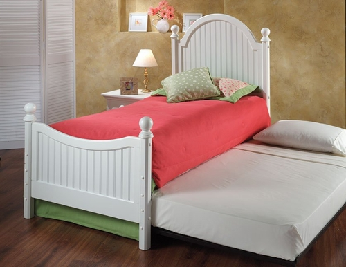 Westfield Twin Size Bed with Trundle Unit - Hillsdale Furniture - 1354BTWHTR