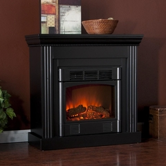 Wexford Petite Convertible Black Electric Fireplace - Holly and Martin