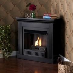 Wexford Petite Convertible Black Gel Fireplace - Holly and Martin