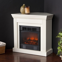 Wexford Petite Convertible Ivory Electric Fireplace - Holly and Martin