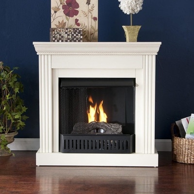 Wexford Petite Convertible Ivory Gel Fireplace - Holly and Martin
