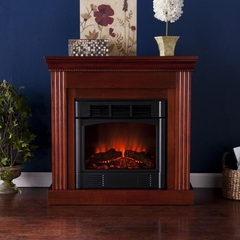 Wexford Petite Convertible Mahogany Electric Fireplace - Holly and Martin