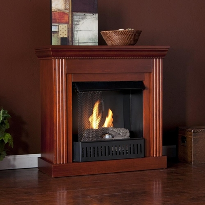 Wexford Petite Convertible Mahogany Gel Fireplace - Holly and Martin