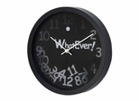 """Whatever"" 3D Wall Clock in Black / White - 1039-3D-BLACK"
