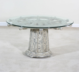 Wheel Cocktail Table - Nantucket - Ultimate Accents - 45177CK
