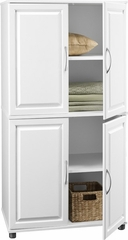 White 4 Door Storage Cabinet - Ameriwood Industries - 7222015Y